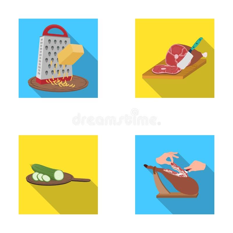 Funda, urządzenie, narzędzie i inna sieci ikona w mieszkaniu, projektujemy kucharz, gospodyni domowa, wręcza ikony w ustalonej ko ilustracji