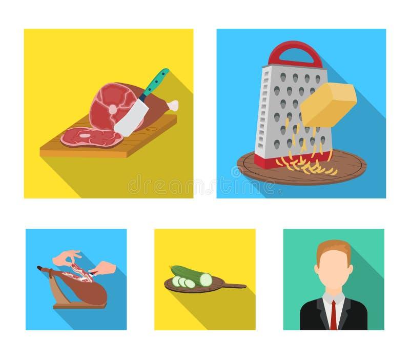 Funda, urządzenie, narzędzie i inna sieci ikona w mieszkaniu, projektujemy kucharz, gospodyni domowa, wręcza ikony w ustalonej ko ilustracja wektor
