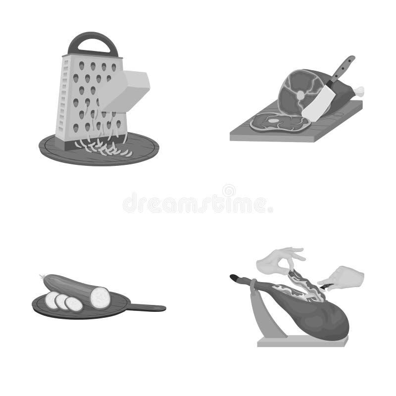 Funda, urządzenie, narzędzie i inna sieci ikona w monochromu, projektujemy kucharz, gospodyni domowa, wręcza ikony w ustalonej ko ilustracja wektor