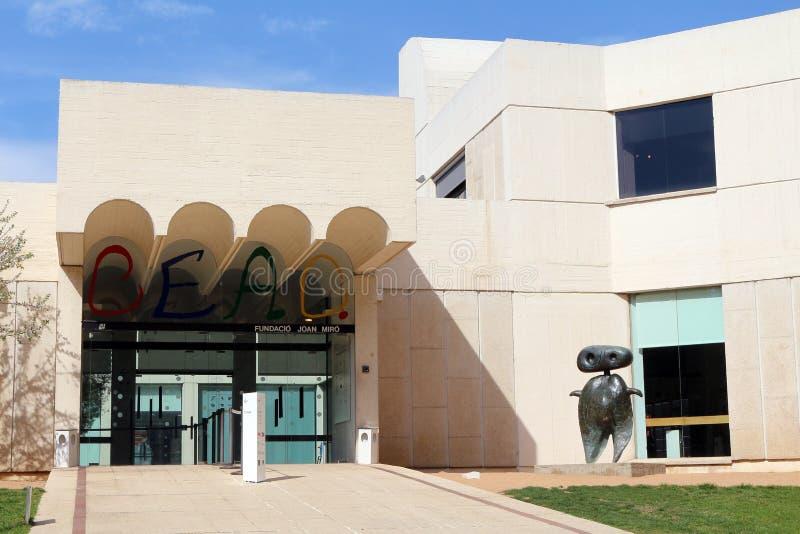 Fundacià ³Joan Mirà ³ - museum av den fundamentJoan Mirà ³en royaltyfria foton