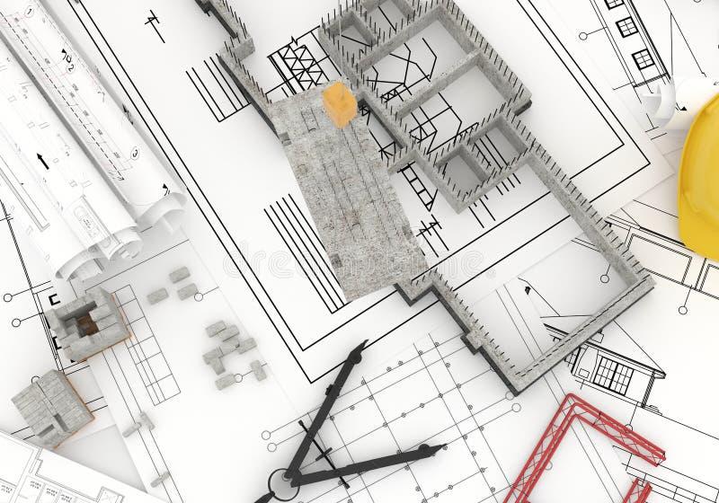 Fundación encima de modelos ilustración del vector