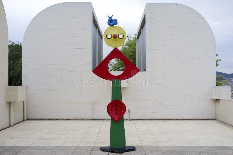 Fundación exterior de Joan Miro, construyendo por Josep Lluis Sert, parque, imágenes de archivo libres de regalías