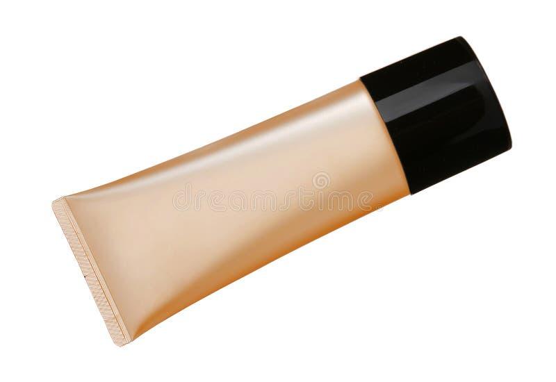 Fundación líquida del maquillaje en tubo fotografía de archivo libre de regalías