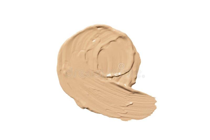 Fundación para la cara Punto de la crema del cc o de la crema del BB Componga el producto fotos de archivo libres de regalías