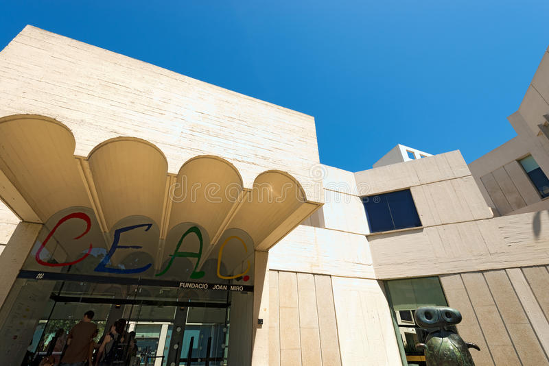Fundacio Joan Miro - Barcellona Spagna immagine stock
