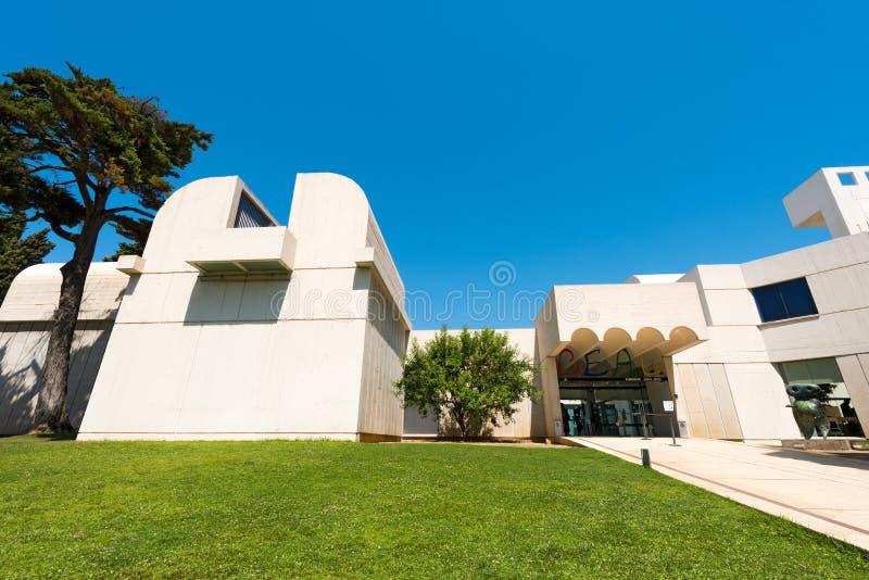 Fundacio Joan Miro - Barcelona Spanien fotografering för bildbyråer
