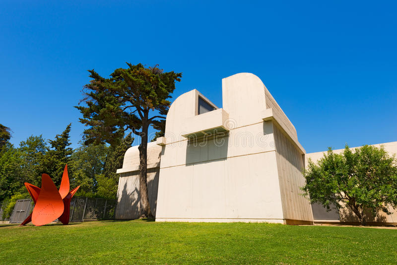 Fundacio Joan Miro - Barcelona Spanien royaltyfria bilder