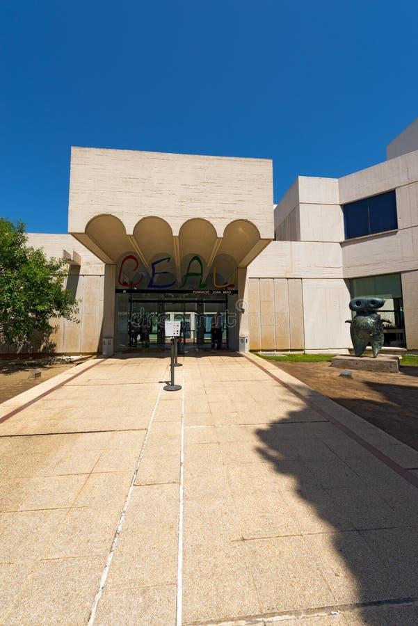 Fundacio Joan Miro - Espanha de Barcelona foto de stock royalty free