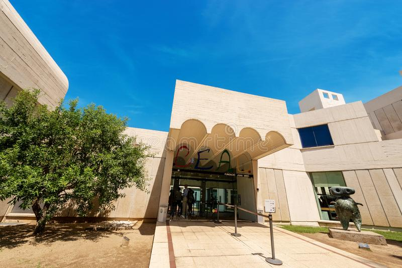 Fundacio Joan Miro - Museum in Barcelona Spanje stock afbeeldingen