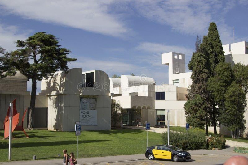 Fundacion Joan Miro en montjuic imagen de archivo