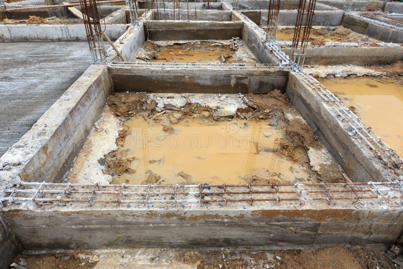 Fundacyjna budowa dla domowego budynku fotografia royalty free