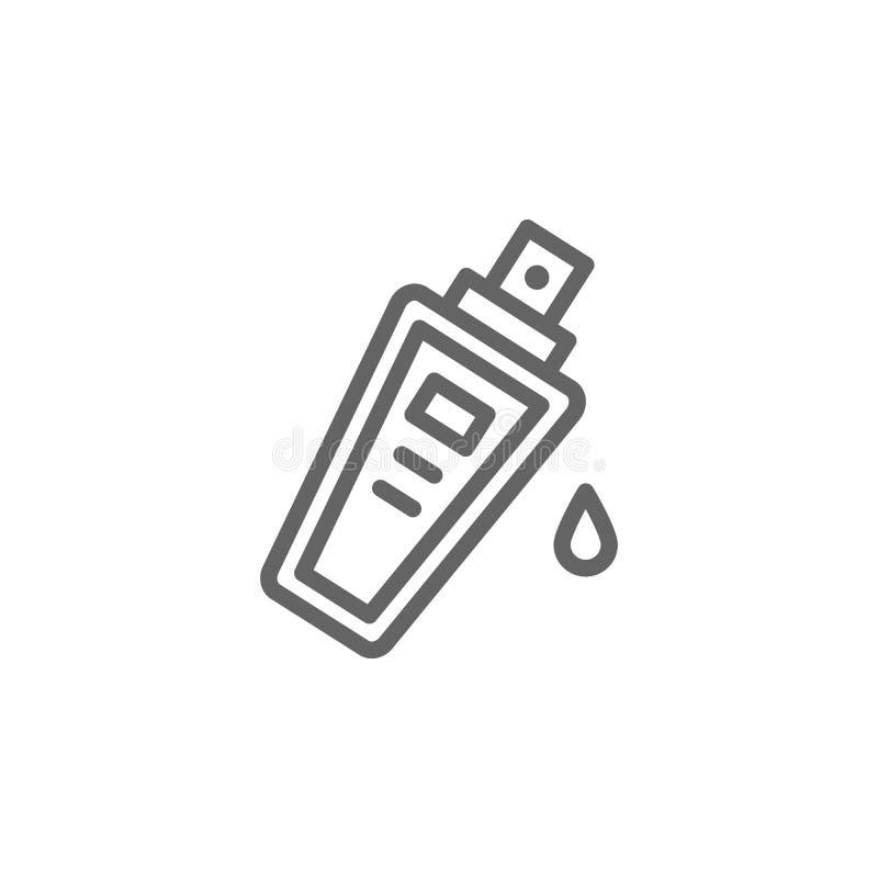 Fundacyjna kontur ikona Elementy pi?kna i kosmetyk?w ilustracja ikona Znaki i symbole mog? u?ywa? dla sieci, logo, wisz?ca ozdoba royalty ilustracja
