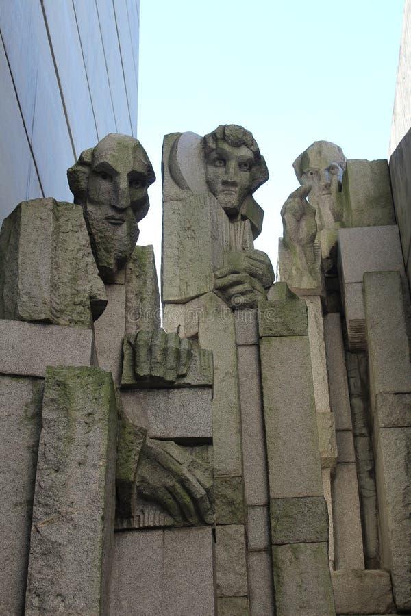 Fundadores del monumento búlgaro del estado foto de archivo
