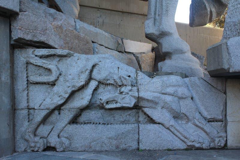 Fundadores del monumento búlgaro del estado foto de archivo libre de regalías