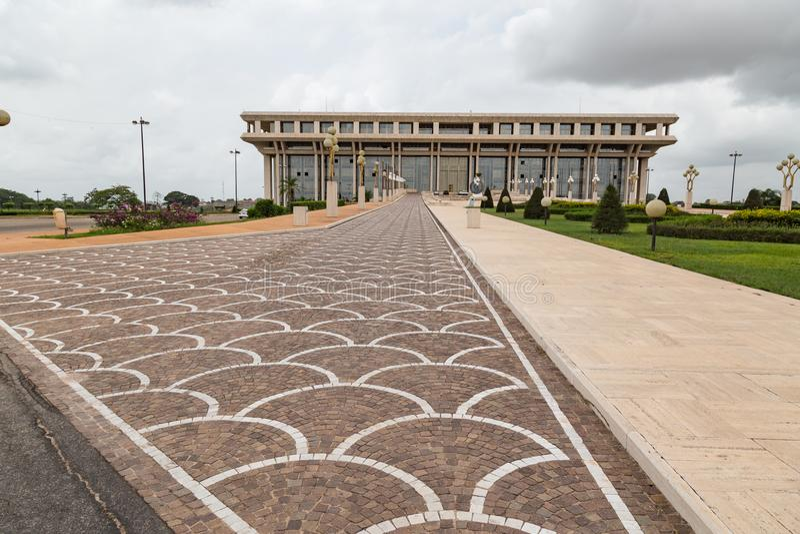 Fundament för fredforskning i Yamoussoukro fotografering för bildbyråer