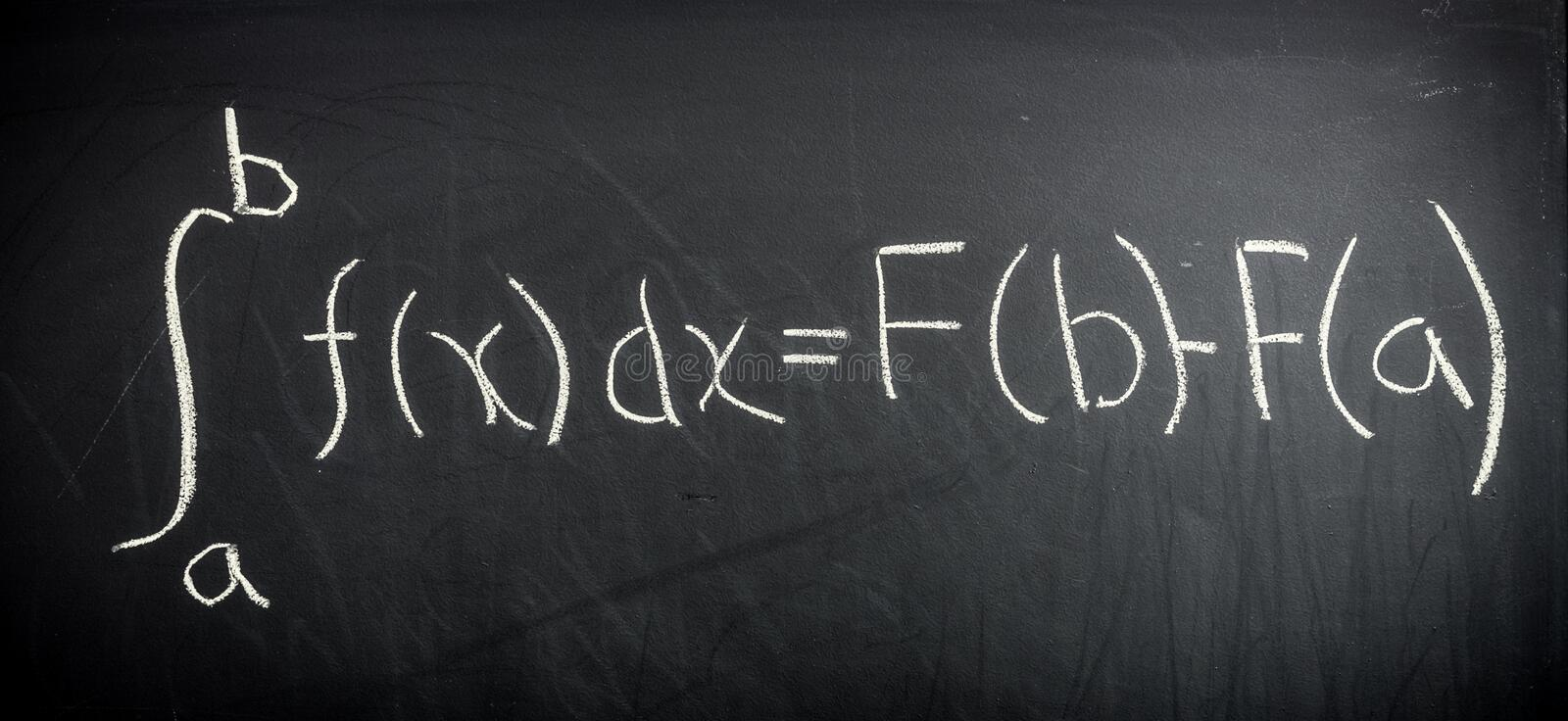 Fundamental theorem of Calculus. In classroom royalty free stock image