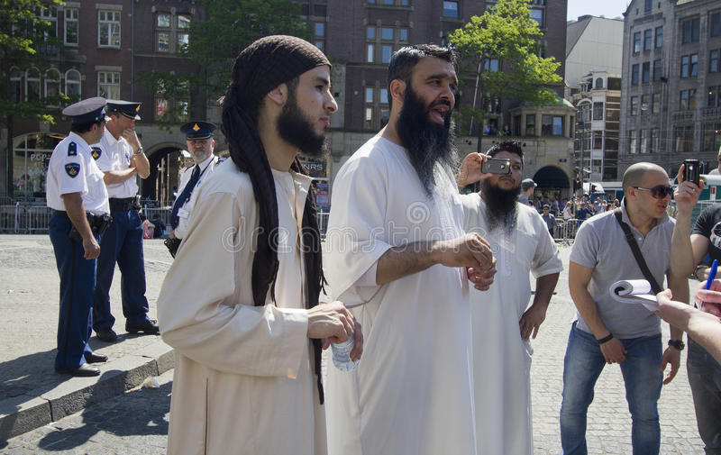 Fundamentalistas musulmanes imágenes de archivo libres de regalías