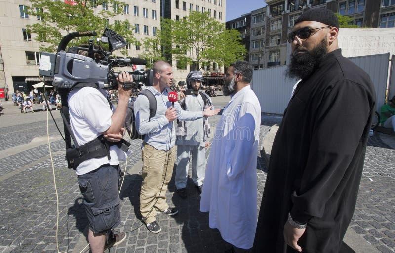 Fundamentalistas musulmanes fotografía de archivo libre de regalías