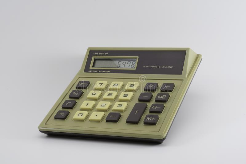 Fundamentele Klassieke Digitale Calculator stock afbeeldingen