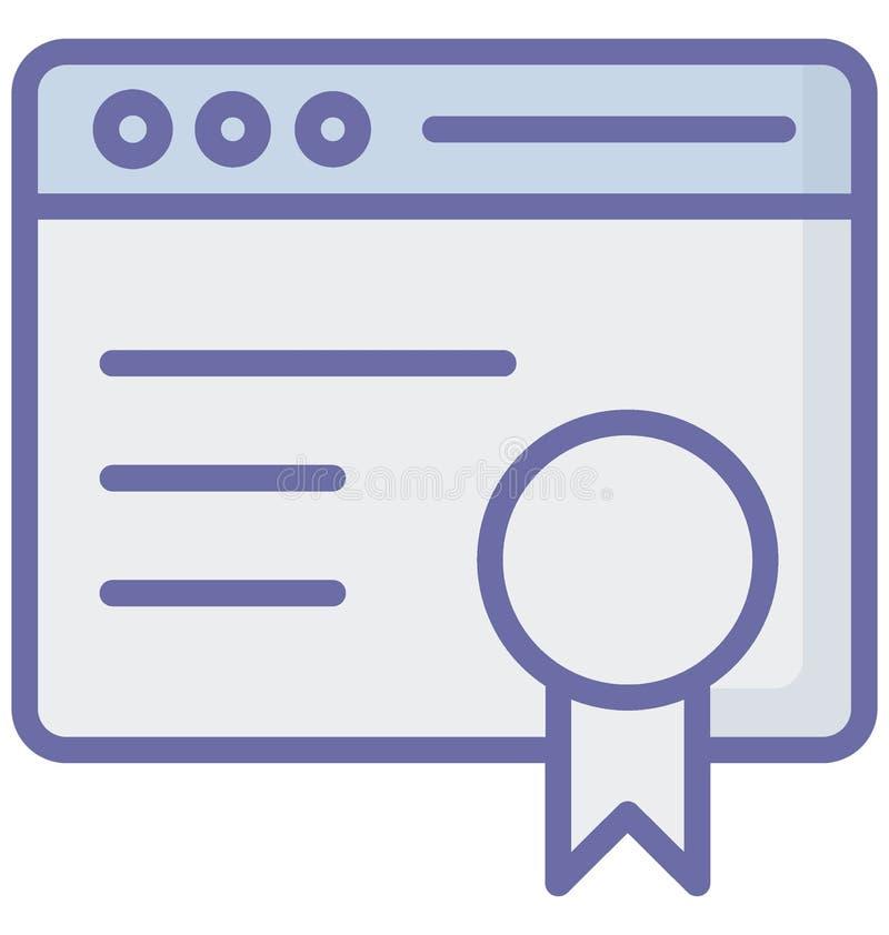 Fundamentele RGB met betrekking tot Webbrowservensters en volledig editable Toekenningsvector stock illustratie