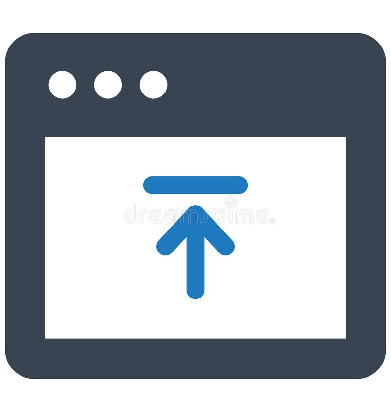 Fundamentele RGB uploadt met betrekking tot Webbrowservensters en volledig editable gegevensvector vector illustratie