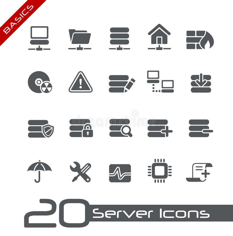 Fundamentos de // de los iconos del servidor libre illustration