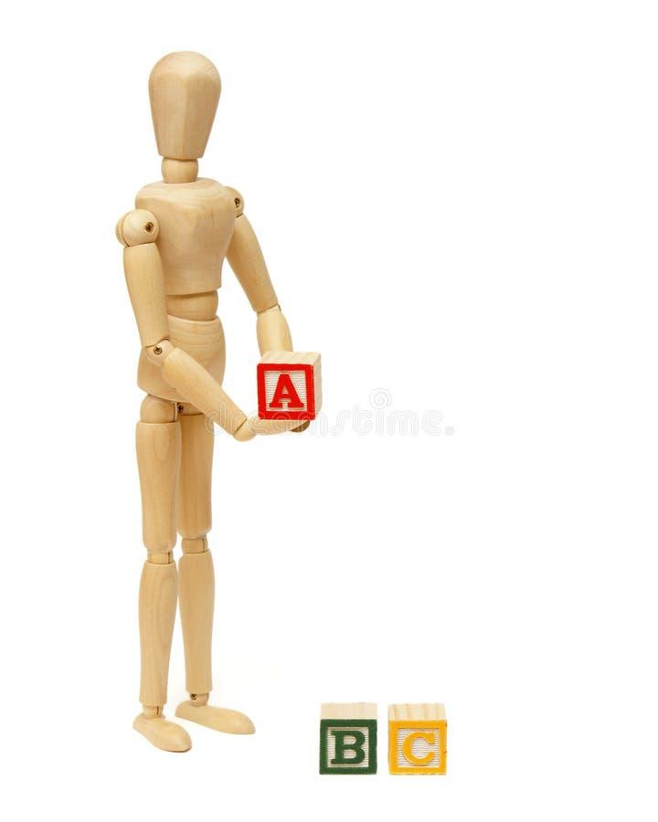 Fundamentos do ABC fotografia de stock