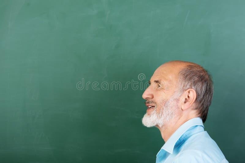 Fundersam hög manlig lärare royaltyfri foto