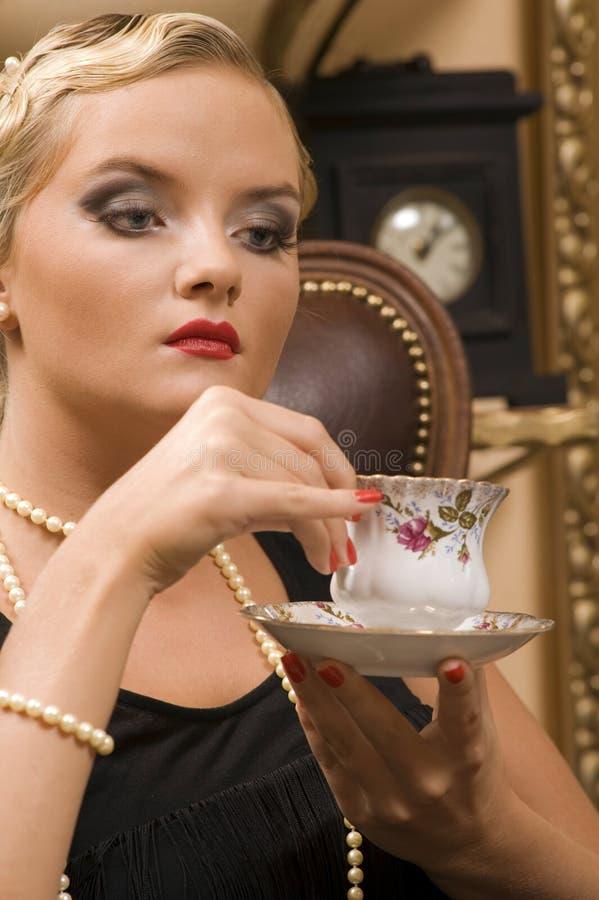 fundersam lady arkivfoton