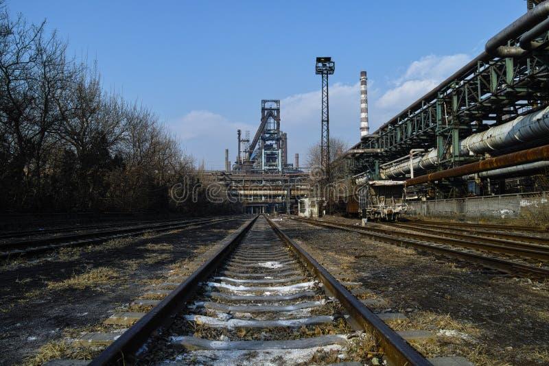 Fundições de aço abandonadas imagens de stock