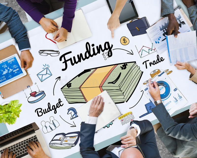 Funding Banking Budget Credit Financial Concept royalty free stock photography