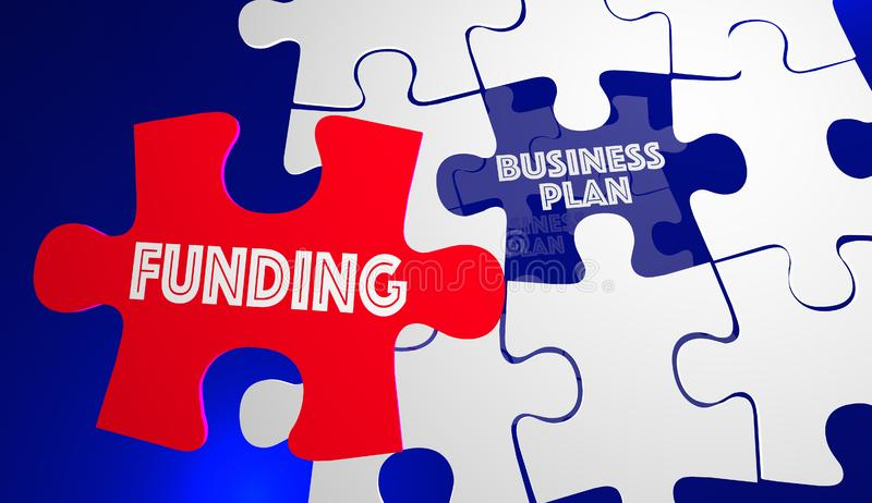 Funding Business Plan New Company Startup Puzzle vector illustration