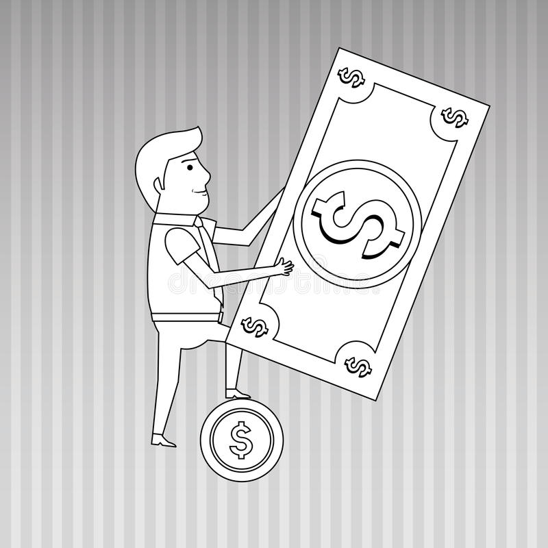 Funding concept design. Illustration eps10 graphic vector illustration