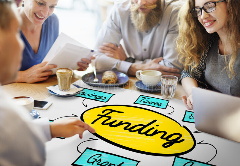 Funding Grant Donation Diagram Concept royalty free stock photography