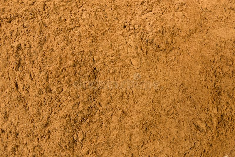 Fundo à terra ou moído da canela Textura de tempero natural Especiarias e ingredientes de alimento naturais fotos de stock