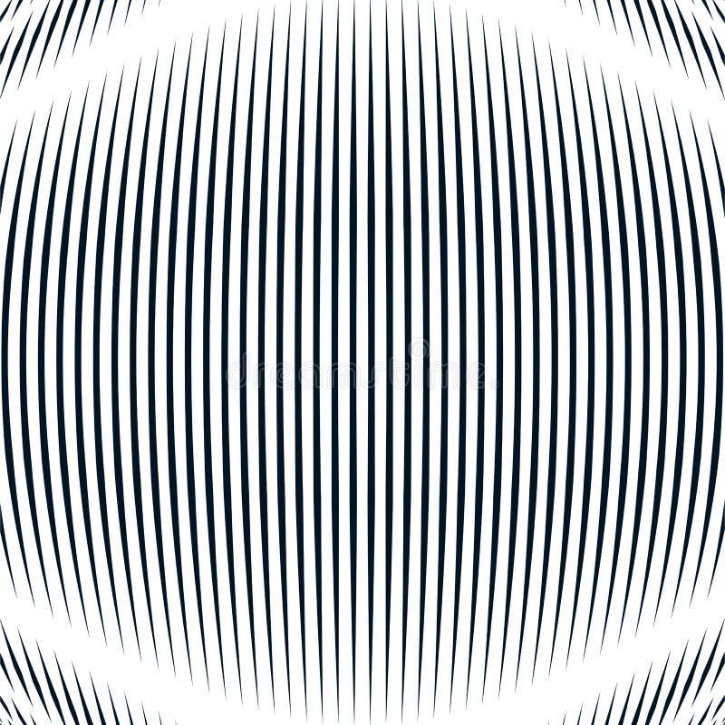 Fundo ótico com linhas geométricas monocromáticas Alinhador longitudinal do ondeamento ilustração do vetor