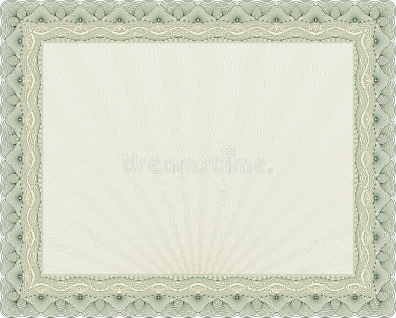 Fundo 04 do certificado ilustração do vetor