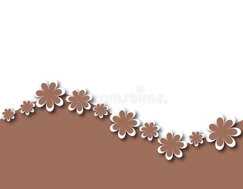 Fundo 1 da flor ilustração royalty free