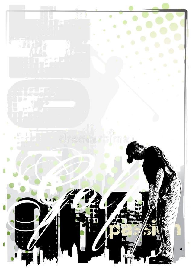 Fundo 2 do golfe ilustração stock