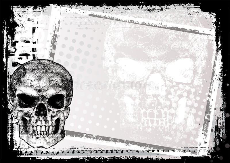 Fundo 2 do poster da morte ilustração stock