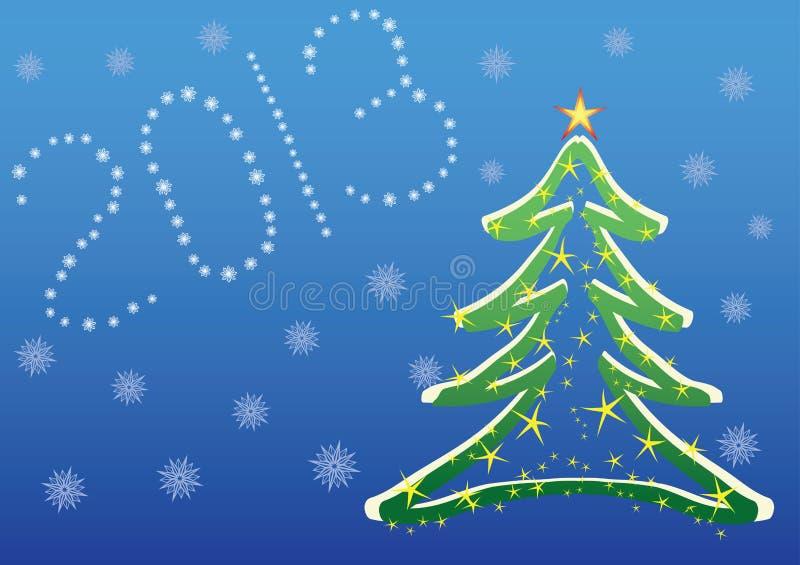 Fundo 2013 do Natal ilustração stock