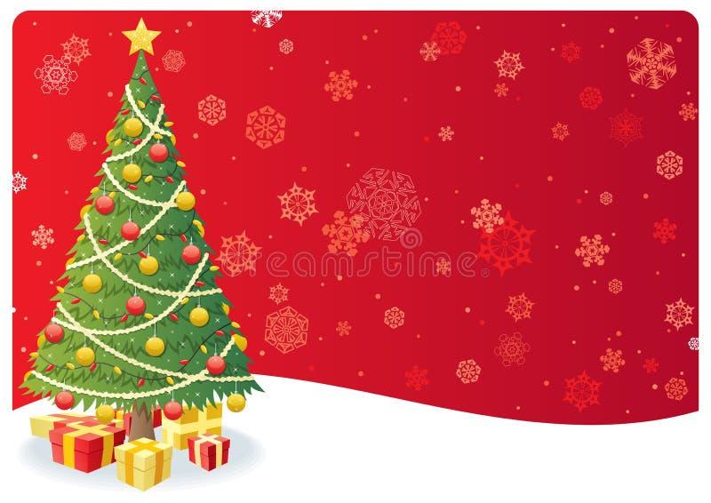 Fundo 3 da árvore de Natal ilustração do vetor