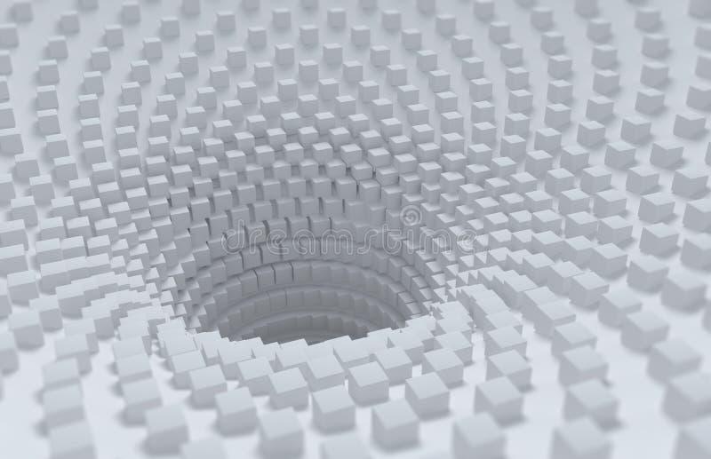 Fundo 3D abstrato ilustração stock