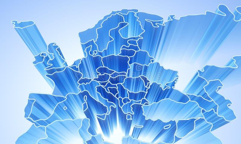 Download Fundo 3D Abstrato De Europa Ilustração Stock - Ilustração de terra, arte: 16858851
