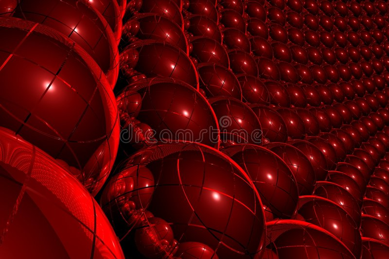 Fundo 3D abstrato vermelho ilustração stock
