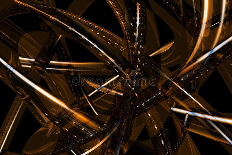 Fundo 3D de bronze abstrato ilustração royalty free