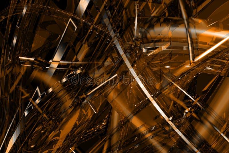 Fundo 3D de bronze abstrato imagens de stock