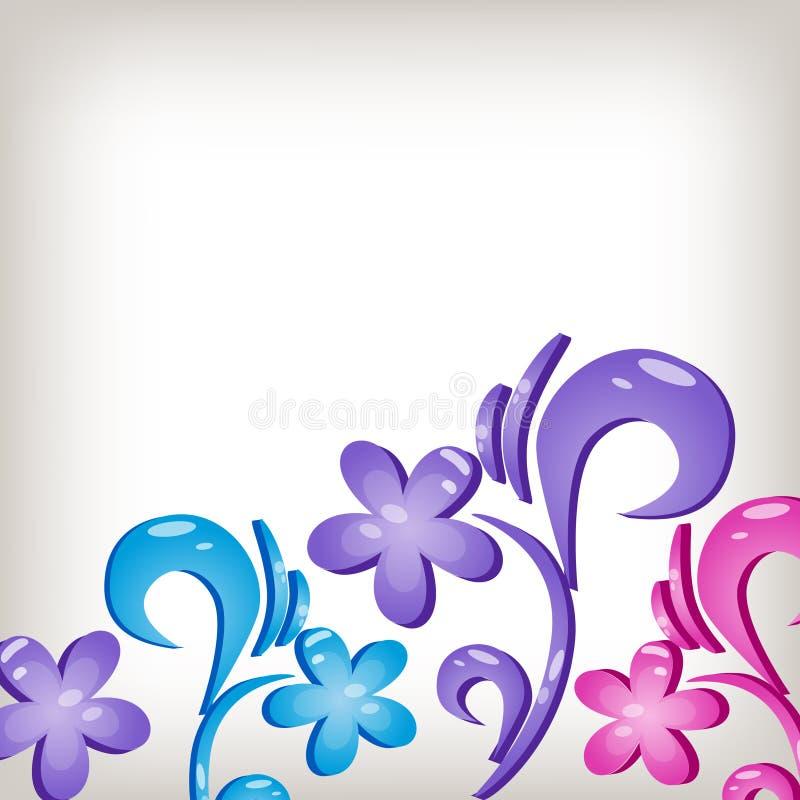 Fundo 3d floral ilustração royalty free