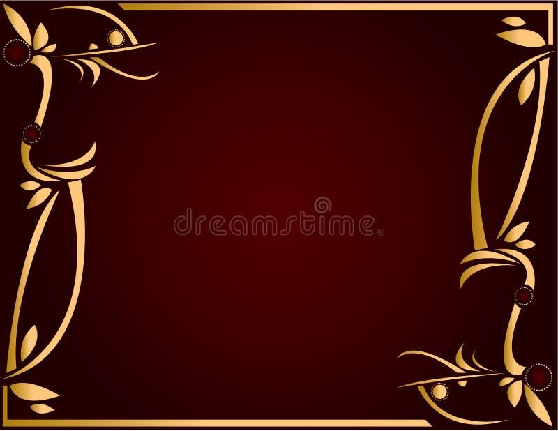 Download Fundo 5 Do Ouro E Da Borgonha Ilustração do Vetor - Ilustração de quadro, sumário: 10053105