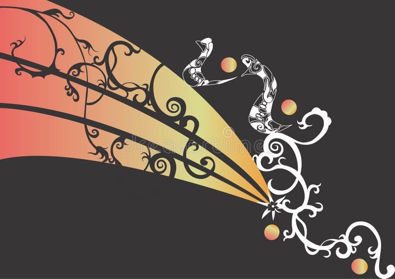 Download Fundo ilustração stock. Ilustração de arte, pattern, ornamental - 527965